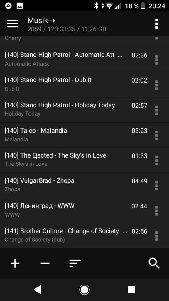 AIMP - Playlist sortiert nach BPM